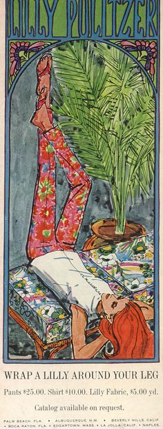 wrap a lilly around your leg! :-) Vintage Lilly Pulitzer 1968