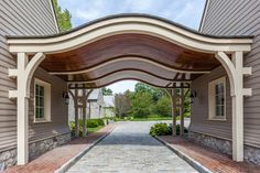 Marion Hill in Litchfield,Connecticut - porte cochere