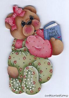 HP TEDDY BEAR with Book FRIDGE MAGNET