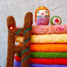 Princess and the Pea needle felted play set...by asherjasper