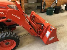 Kubota™ Quick-Attach Buckets - BoltOnHooks LLC Kubota Compact Tractor, Compact Tractors, Compact Tractor Attachments, Tractor Accessories, Kubota Tractors, Tractor Mower, Buckets, Hooks, Monster Trucks
