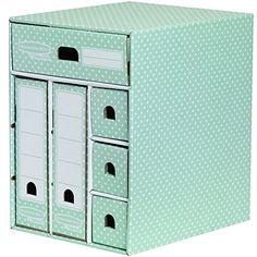 Bankers Box Style Multi Storage Unit - Green/White