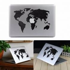 Piel de la etiqueta adhesiva de la etiqueta de vinilo del mapa mundial para ordenador portátil de aire del MacBook / ordenador portátil pro