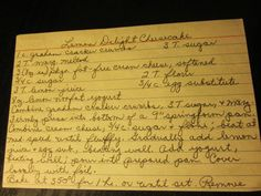 Grandma's Vintage Recipes: Lemon Delight Cheesecake