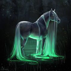 Mystical Creatures Drawings, Mystical Animals, Cute Fantasy Creatures, Mythical Creatures Art, Creature Drawings, Horse Drawings, Mythological Creatures, Magical Creatures, Wolf Drawings