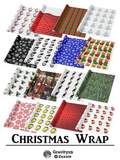 Get ready to wrap up your holiday gifts with custom wrapping paper at  #Zazzle! #Gravityx9 #I_love_xmas -
