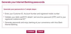 How to Activate Axis Bank Internet Banking
