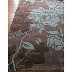 Put an elegant finishing touch on your modern décor with the contemporary floral pattern of the nuLOOM Bliss Area Rug - Chocolate . Brown And Blue Living Room, My Living Room, Rugs Usa, Floral Rug, Cool Tones, Contemporary Rugs, Online Home Decor Stores, Throw Rugs, Accent Pieces