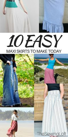 Maxie skirts are the perfect way to easy into the warm weather days ahead. To help flood your closet with handmade goodies, I've rounded up 10 easy to make maxi skirts that you can make today! Maxi Skirts You Can Make Not only are maxi skirts easy to make but they are perfect for any type of weather. These are sure to become a basic staple in your closet! 1. <em class=short_underline> <strong>Simple Maxi Skirt</strong> </em> This skir...