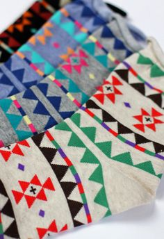 Aztec Pattern Socks - these would make a great gift!