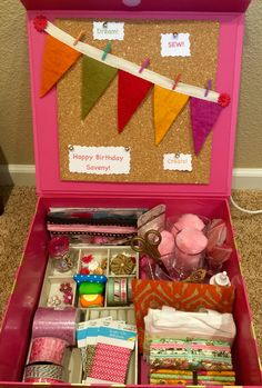 Sewing Craft Box For Girl Birthday