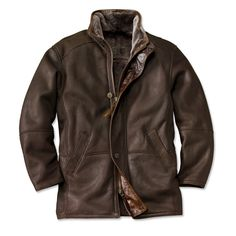Made in USA, Made in America.   Shearling Leather Coat for Men - Worlds Finest Shearling Coat -- Orvis on Orvis.com!