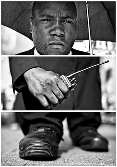 Triptychs of Strangers #18, The Revolutionary Security Guard - London by theblackstar, via Flickr