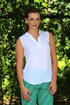 WARDROBE ESSENTIAL: White tank top. Goes with everything!!!