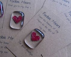 fused glass pocket heart fathers day More