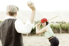 Photo Fridays | A Fun Vintage Engagement