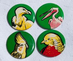 Vintage Soviet button pins