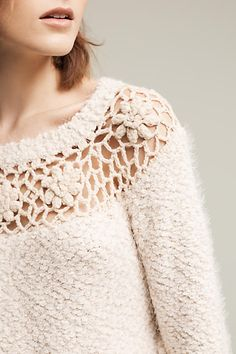 Didion Crocheted Sweater - anthropologie.com