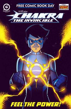 Stan Lee's Chakra the Invincible #1 FCBD (2013) Liquid Comics Script and Created by Stan Lee. From the mind of legendary creator Stan Lee comes his newest superhero, CHAKRA THE INVINCIBLE. Chakra tells the story of young Indian teenager, Raju Rai, a technology genius living in Mumbai. Determined to use science to unlock the secrets of human potential, Raju develops a technological suit that activates the mystical Chakras of the body, unleashing newfound abilities and powers. 'Against the ...