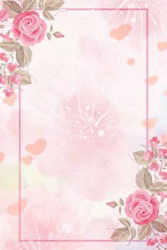 Spring Red Flowers Minimalist H5 Background