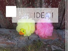 Idea para las esponjas de baño decoración