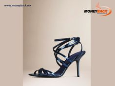 The slim strap metallic leather sandals by Burberry are elegant women's shoes with multiple crossover slim straps with double-buckle ankle closure, soft satin insole and leather sole. Buy in Burberry Mexico, save your ticket and get a tax refund with Moneyback! #taxfree #moneyback  #taxrefund #travelmexico