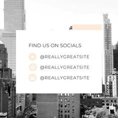 Modern instagram find us on socials feed post Yoga Podcast, Design Basics, Instagram Post Template, Branding Your Business, Creative Skills, Brand You, Earthy, Social Media Marketing, Finding Yourself
