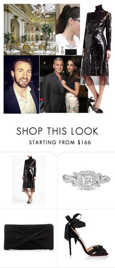 """""""Going   a Dinner"""" by pacqueline-ngoya on Polyvore featuring mode, By Malene Birger, Vera Wang, Reiss et Christian Louboutin"""