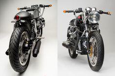 A monotone masterpiece. The Moto Guzzi 850T cafe racer by Moto Motivo - via returnofthecaferacers.com