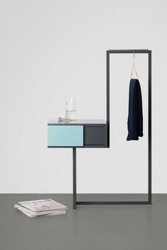 'Teca Bedroom Cabinet' by Alfredo Häberli. Steel Furniture, Space Furniture, Home Furniture, Furniture Design, Minimalist Bed, Minimalist Furniture, Armoire Design, Halls, Bedroom Cabinets