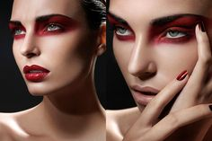 Seeing red…    Makeup: Frichot Guilaine    Website: www.guilainemakeup.com    Twitter: @GuilaineFr    Photo: Davolo Steiner    Website: www.davolo.com    Model: Sandrine Jo    Retouch: Stéphanie Herbin    #MUAM #MUAMtalk