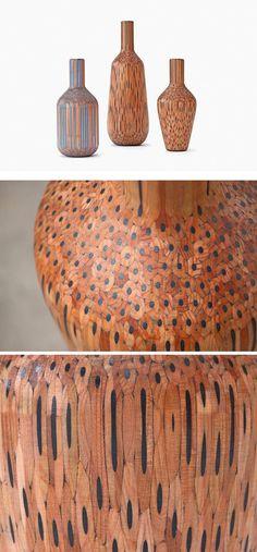 Colored Pencils Vases