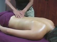 A good one, tells you the muscle and why you are working it.  Back Massage Therapy How to For Stress  Relaxation