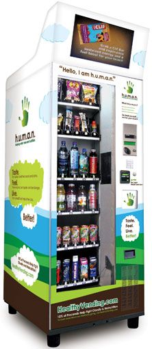 H.U.M.A.N. vending machines: stocked with healthy stuff.