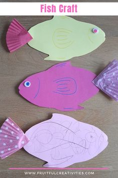 Super easy fish craft that is perfect to teach your child about the miracle of the fish. #fishcraft #biblecrafts #bibleforkids Bible Crafts For Kids, Easy Crafts For Kids, Toddler Crafts, Preschool Activities, Sunday School Activities, Bible Activities, Indoor Activities For Kids, Fish Template, Fish Crafts