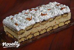 Karamellás-krémsajtos piskóta | Nosalty Hungarian Cake, Hungarian Recipes, Hungarian Food, Sweet Cookies, Cake Cookies, Sweet Recipes, Cake Recipes, Ital Food, Non Plus Ultra