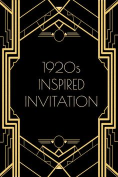 Use this 1920s inspired invitation template for a Gatsby or flapper themed party. Free to use for any and everyone! Click on the site link to get to the full size image. Enjoy!