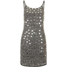 TOPSHOP Mirror Embellished Slip Dress ( 200) ❤ liked on Polyvore Fashion  101 7af48f6cb
