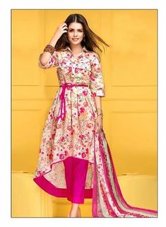Multi Color Rich Cotton Dress Material by The Beautiful Lady Shop - Online shopping for Unstitched Dress Material on GlowRoad - -PR6U2I