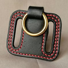 Belt Key Ring by RedStitchLeathers on Etsy