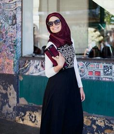#Simple #Dress donning with satin Scarf