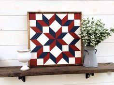 Carpenters Wheel Barn Quilt Quilt Block by sophisticatedhilbily