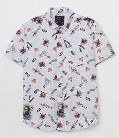 Camisa masculina Manga curta Estampada Marca: Blue Steel Tecido: tricoline Composição: 100% algodão Modelo veste tamanho: M COLEÇÃO INVERNO 2017 Veja outras opções de camisas masculinas. Está com dúvidas na tabela de medidas? Confira abaixo a equivalência dos tamanhos para facilitar sua compra: 01 = PP 02 = P 03 = M 04 = G 05 = GG 06 = XG