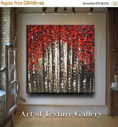 This listing is for a custom commission painting similar to the recently sold on Etsy painting pictured. Please allow 12 business days for the painting to be completed as it is created using many layers of paint. Pictures will be sent for your approval of the painting before shipment. ___________________________________________________________ Original Abstract Texture Oil Painting by Je Hlobik TITLE: Fall Foliage in Reds SIZE: Please see canvas size options top right- all canvases used ...