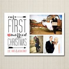 newly wed christmas card  married christmas. by westwillow on Etsy, $16.00