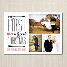 newly wed christmas card - married christmas.