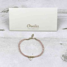 Orelia Pink Beaded Bracelet With Gold Charm Available Instore And Online At Pink Cadillac Boutique www.pinkcadillac.co.uk