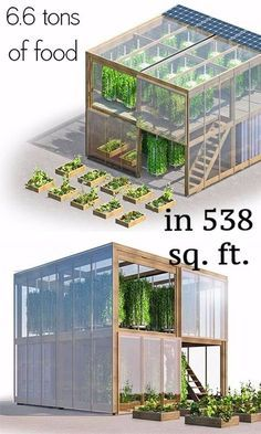 This flatpack urban farm only takes up 538 square feet, but its creators say that it can yield as much as 6 tonnes tons) of fresh produce per year. Aquaponics System, Hydroponic Farming, Aquaponics Greenhouse, Hydroponic Growing, Aquaponics Fish, Growing Plants, Hydroponics, Greenhouse Ideas, Organic Gardening
