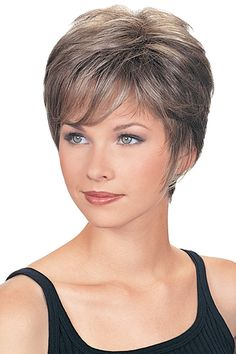 Updo Hairstyle Fashionable Cropped Wavy Synthetic Grey Wigs, Grey Human Hair Wigs - You'll look refined and elegant in a grey wig, so shop now to find Fashionable Cropped Wavy Synthetic Grey Wigs in the shades and styles you've been searching for! Grey Hair Wig, Shampoo For Gray Hair, Short Grey Hair, Braids For Short Hair, Lace Hair, Short Hair Cuts For Women, Hair Shampoo, Natural Hair Styles, Short Hair Styles