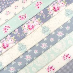 Tilda The Corner shop fabric pack x 10 / quilting rose dot duck egg blue grey | eBay